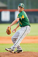 Central Cabarrus Vikings starting pitcher Andrew Burgesser #8 in action against the Northwest Cabarrus Trojans on April 30, 2012 in Kannapolis, North Carolina.  The Trojans defeated the Vikings 8-2.  (Brian Westerholt/Four Seam Images)