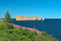 Le Rocher Percé or Percé Rock in the Atlantic Ocean<br />