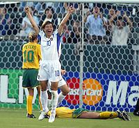 Natalia Barbachina celebrates a goal against Australia, 2003 WWC Australia vs. Russia.