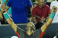 RIO DE JANEIRO, RJ, 23.02.2014 - A  em lance contra a  durante a final feminina na quadra central do Jockey Club neste domingo. (Foto: Néstor J. Beremblum / Brazil Photo Press).