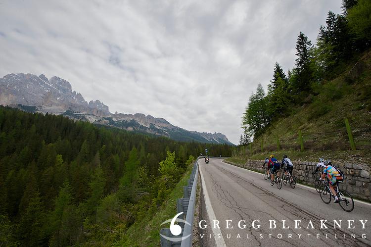 Below the treeline on Passo Crostis.
