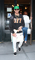 NEW YORK, NY September 10, 2017  Lewis Hamilton  at Balthazar Restaurant  in New York September 10,  2017.<br /> CAP/MPI/RW<br /> &copy;RW/MPI/Capital Pictures