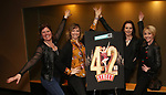 "Amy Dolan Fletcher, Sara Brians, Alison Levenberg and Kelly Sheehan attends the BroadwayHD's ""42nd Street"" Screening at the AMC Empire 25 Theatres on April 16, 2019 in New York City."