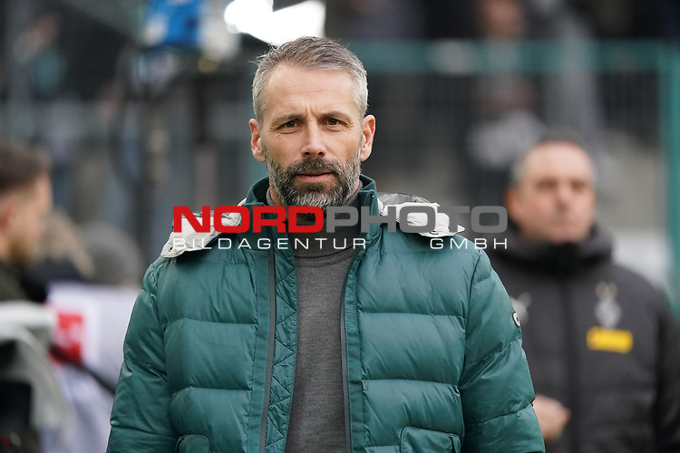 01.12.2019, Borussia Park , Moenchengladbach, GER, 1. FBL,  Borussia Moenchengladbach vs. SC Freiburg,<br />  <br /> DFL regulations prohibit any use of photographs as image sequences and/or quasi-video<br /> <br /> im Bild / picture shows: <br /> Marco Rose Chefrainer/Headcoach (Gladbach), <br /> <br /> Foto © nordphoto / Meuter