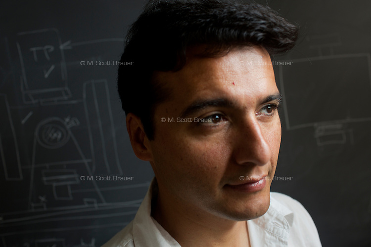 Paulo Lozano is the Associate Director of the Space Propulsion Lab and an Associate Professor of Aeronautics and Astronautics at MIT in Cambridge, Massachusetts, USA.  Lozano's current research focuses on the development of small thrusters for satellites.  The thrusters his lab has developed are about the size of a single die cube and contain enough fuel to power the thrusters for a year in space.  The thrusters will be used on small satellites.