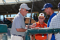 Detroit Tigers Jim Leyland signs autographs for fans before a Grapefruit League Spring Training game against the Baltimore Orioles on March 3, 2019 at Ed Smith Stadium in Sarasota, Florida.  Baltimore defeated Detroit 7-5.  (Mike Janes/Four Seam Images)
