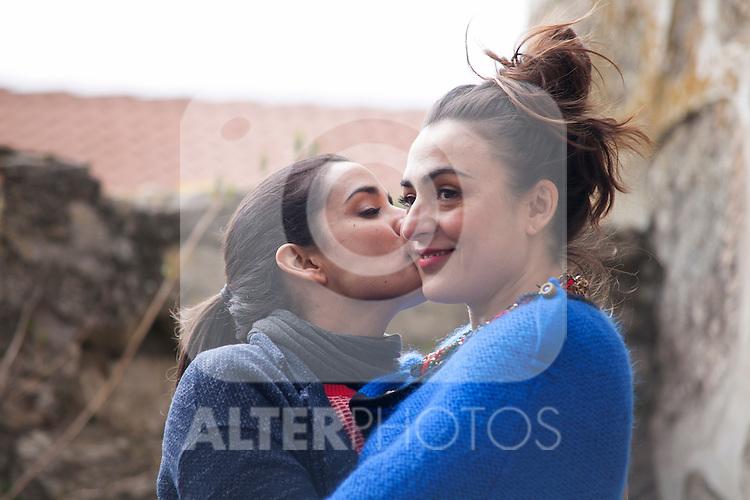 """Spanish actress Inma Cuesta and Candela Peña on the set of the movie """"Las Ovejas No Pierden El Tren"""". in Segovia, Spain. April 01, 2014. (ALTERPHOTOS/Carlos Dafonte)"""