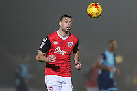 Ryan Edwards of Morecambe during the Sky Bet League 2 match between Wycombe Wanderers and Morecambe at Adams Park, High Wycombe, England on 12 November 2016. Photo by David Horn.