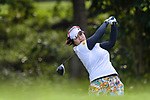 Supamas Sangchan of Thailand tees off during the first round of the EFG Hong Kong Ladies Open at the Hong Kong Golf Club Old Course on May 11, 2018 in Hong Kong. Photo by Marcio Rodrigo Machado / Power Sport Images