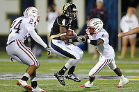5 December 2009:  FIU wide receiver T.Y. Hilton (4) returns a kickoff in the first half as the Florida Atlantic University Owls defeated the FIU Golden Panthers, 28-21, in the annual Shula Bowl game at FIU Stadium in Miami, Florida.