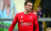 Lincoln City's Harry Toffolo during the pre-match warm-up<br /> <br /> Photographer Andrew Vaughan/CameraSport<br /> <br /> The EFL Sky Bet League Two - Lincoln City v Macclesfield Town - Saturday 30th March 2019 - Sincil Bank - Lincoln<br /> <br /> World Copyright © 2019 CameraSport. All rights reserved. 43 Linden Ave. Countesthorpe. Leicester. England. LE8 5PG - Tel: +44 (0) 116 277 4147 - admin@camerasport.com - www.camerasport.com