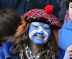 Scotland fan with painted face - RBS 6Nations 2015 - Scotland  vs Wales - BT Murrayfield Stadium - Edinburgh - Scotland - 15th February 2015 - Picture Simon Bellis/Sportimage