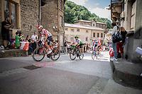 Thomas De Gendt (BEL/Lotto Soudal) leading the breakaway group.  <br /> <br /> <br /> Stage 8: Macon to Saint-Etienne (200km)<br /> 106th Tour de France 2019 (2.UWT)<br /> <br /> ©kramon