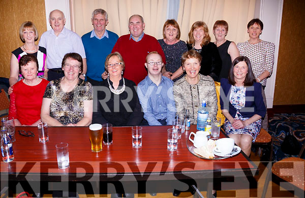 Pictured at the fundraising Dance in aid of CUH at the Ring of Kerry Hotel on Saturday night last were front l-r; Mary O'Sullivan, Mary Quirke, Mary O'Neill-McDonnell, John Paul Doyle, Helen Shanahan, Julie O'Connell, back l-r; Della Doyle, Mike Griffin, Dan O'Sullivan, Christy McDonnell, Anne Kennedy, Mary Lane, Eileen Galvin & Hannah O'Leary.