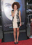 Nathalie Emmanuel at HBO's L.A. Premiere of Game of Thrones  held at The Grauman's Chinese Theater in Hollywood, California on March 18,2013                                                                   Copyright 2013 Hollywood Press Agency