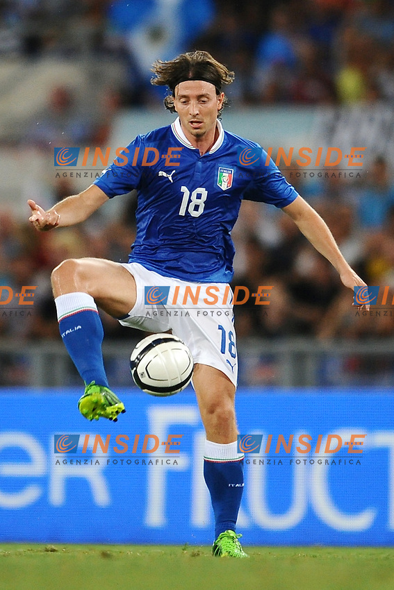 Riccardo Montolivo (Italia)<br /> 14/08/2013 Stadio Olimpico, Roma<br /> Friendly match Italy vs Argentina<br /> Italia vs Argentina 1-2<br /> foto Antonietta Baldassarre / Insidefoto