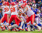 9 November 2014: Kansas City Chiefs running back Jamaal Charles (25) rushes for yardage against the Buffalo Bills in the first quarter at Ralph Wilson Stadium in Orchard Park, NY. The Chiefs rallied with two fourth quarter touchdowns to defeat the Bills 17-13. Mandatory Credit: Ed Wolfstein Photo *** RAW (NEF) Image File Available ***