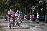Later race winner Dries de Bondt (BEL/Corendon Circus) leading the breakaway group over a cobble/gravel section  <br /> <br />  23th Memorial Rik Van Steenbergen 2019<br /> One Day Race: Beerse > Arendonk 208km (UCI 1.1)<br /> ©kramon