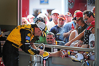 Feb 9, 2008; Daytona, FL, USA; Nascar Sprint Cup Series driver Matt Kenseth signs autographs during practice for the Daytona 500 at Daytona International Speedway. Mandatory Credit: Mark J. Rebilas-US PRESSWIRE