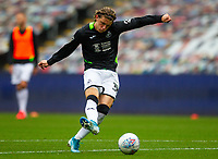 18th July 2020; Liberty Stadium, Swansea, Glamorgan, Wales; English Football League Championship, Swansea City versus Bristol City; Conor Gallagher of Swansea City warms up before the match