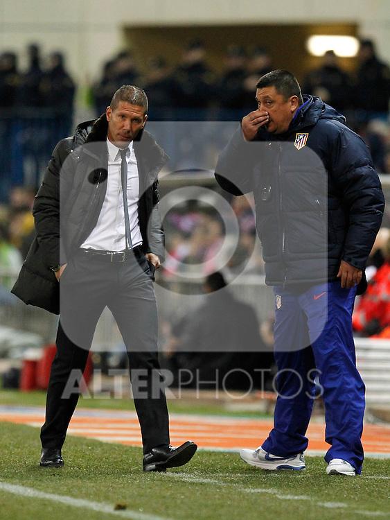 Madrid (05/02/2012) LIGA BBVA.Atletico de Madrid- Valencia C.F...SIMEONE, MONO BURGOS.....