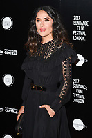 Salma Hayek<br /> at the premiere of &quot;Beatriz at Dinner&quot; as part of Sundance London at the Mayfair Hotel, London. <br /> <br /> <br /> &copy;Ash Knotek  D3271  01/06/2017