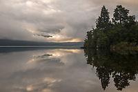 Dawn at Lake Kaniere, West Coast, South Westland, South Island, New Zealand, NZ