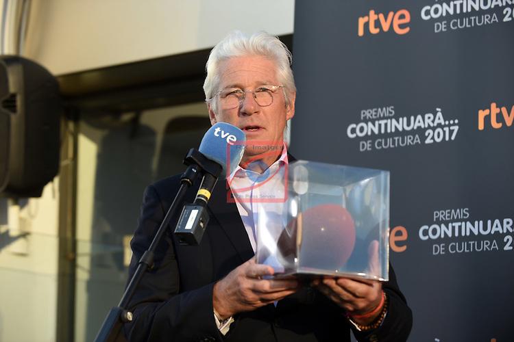 Premis Dol&ccedil;os Continuara de Cultura, Edicio 2017.<br /> Richard Gere.