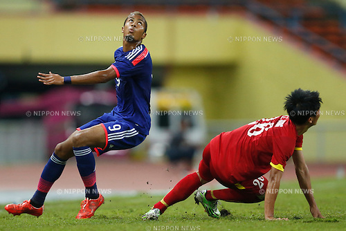 Musashi Suzuki (JPN), MARCH 29, 2015 - Football / Soccer : AFC U-23 Championship 2016 Qualification Group I match between U-22 Japan 2-0 U-22 Vietnam at Shah Alam Stadium in Shah Alam, Malaysia. (Photo by Sho Tamura/AFLO SPORT)