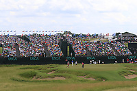 Thomas Aiken (RSA) on the 9th green during Saturday's Round 3 of the 117th U.S. Open Championship 2017 held at Erin Hills, Erin, Wisconsin, USA. 17th June 2017.<br /> Picture: Eoin Clarke | Golffile<br /> <br /> <br /> All photos usage must carry mandatory copyright credit (&copy; Golffile | Eoin Clarke)