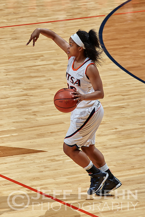SAN ANTONIO, TX - FEBRUARY 26, 2015: The University of Southern Mississippi Golden Eagles defeat the University of Texas at San Antonio Roadrunners 61-59 at the UTSA Convocation Center. (Photo by Jeff Huehn)