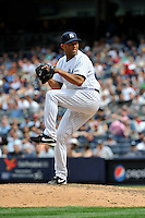 New York Yankees pitcher Mariano Rivera #42 during a game against the Texas Rangers at Yankee Stadium on June 16, 2011 in Bronx, NY.  Yankees defeated Rangers 3-2.  Tomasso DeRosa/Four Seam Images