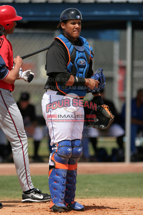 New York Mets minor leaguer Francisco Pena during Spring Training at the Carl Barger Training Complex on March 20, 2007 in Melbourne, Florida.  (Mike Janes/Four Seam Images)