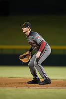 Salt River Rafters first baseman Pavin Smith (44), of the Arizona Diamondbacks organization, during an Arizona Fall League game against the Mesa Solar Sox at Sloan Park on October 16, 2018 in Mesa, Arizona. Salt River defeated Mesa 2-1. (Zachary Lucy/Four Seam Images)