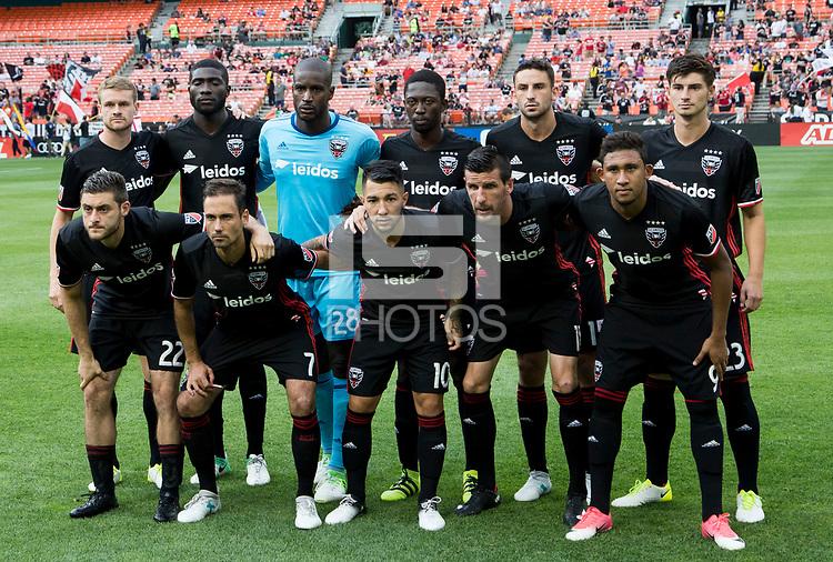 Washington, DC. - Wednesday, June 21 2017: DC United defeated Atlanta United FC 2-1 in a MLS match at RFK Stadium.