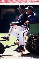Baseball: San Francisco Giants Bobby Bonds and Barry Bonds. San Francisco, CA 5/18/1994 MANDATORY CREDIT: Brad Mangin