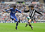 Newcastle's Joey Barton and Chelsea's Paulo Ferreira. during the Premier League match at the St James' Park Stadium, Newcastle. Picture date 5th May 2008. Picture credit should read: Richard Lee/Sportimage