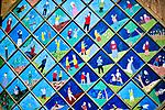 Brusy-Jaglie (woj. pomorskie) 09.07.2011.  Prace artysty ludowego Józefa Chełmowskiego (zm. 6 lipca 2013) eksponowane w malowniczym ogrodzie stanowiącym prywatne muzeum regionalne.