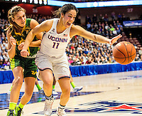 "03-06-17 AAC Tournament.  Up by 60 points with 8:14 to go in the fourth period, Kia Nurse [#11] still hustling for a ""loose"" ball in the 100-44 final."