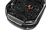 Car Stock 2017 Lincoln MKZ Select 4 Door Sedan Engine  high angle detail view