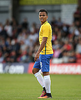 Allan of Brazil during the International match between England U20 and Brazil U20 at the Aggborough Stadium, Kidderminster, England on 4 September 2016. Photo by Andy Rowland / PRiME Media Images.