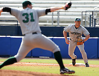 March 23, 2010:  First Baseman Jason Brooks (25) of the Dartmouth Big Green during a game at the Chain of Lakes Stadium in Winter Haven, FL.  Photo By Mike Janes/Four Seam Images