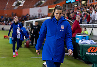 HOUSTON, TX - FEBRUARY 03: Tobin Heath #17 of the United States walks to the bench during a game between Costa Rica and USWNT at BBVA Stadium on February 03, 2020 in Houston, Texas.