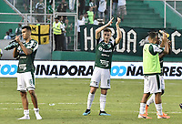 PALMIRA - COLOMBIA, 01-09-2019: Christian Rivera y Agustin Palavecino del Cali celebran con sus hinchas después del partido entre Deportivo Cali y Deportivo Pasto por la fecha 9 de la Liga Águila II 2019 jugado en el estadio Deportivo Cali de la ciudad de Palmira. / Christian Rivera and Agustin Palavecino of Cali celebrate with his fans after match between Deportivo Cali and Deportivo Pasto for the date 9 as part Aguila League II 2019 played at Deportivo Cali stadium in Palmira city. Photo: VizzorImage / Gabriel Aponte / Staff