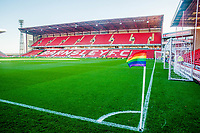 during the Sky Bet Championship match between Barnsley and Leeds United at Oakwell, Barnsley, England on 25 November 2017. Photo by Stephen Buckley / PRiME Media Images.