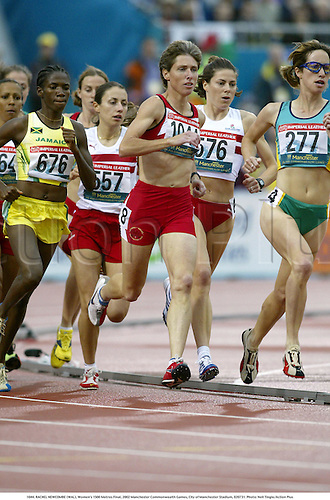 1044. RACHEL NEWCOMBE (WAL), Women's 1500 Metres Final, 2002 Manchester Commonwealth Games, City of Manchester Stadium, 020731. Photo: Neil Tingle/Action Plus...athletics athletes athlete.runner runners running run runs.track event.woman