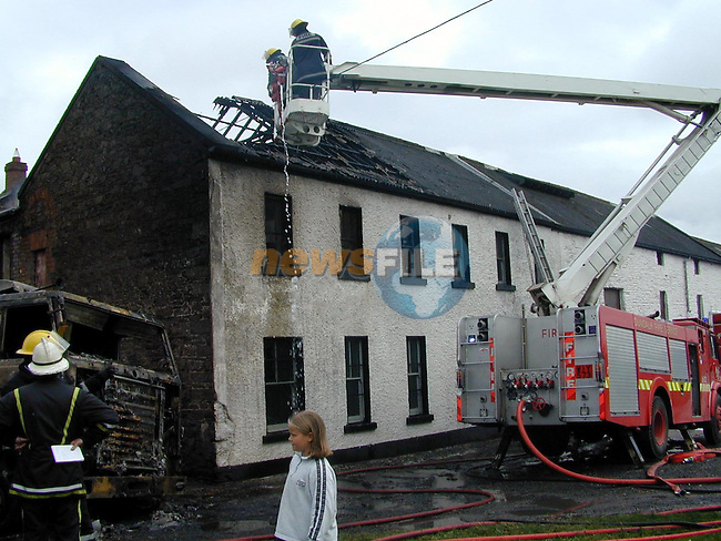 the Fire on Sunday at the Mill in Annigasses Co Louth.Pic Fran Caffrey Newsfile