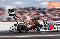 Feb 23, 2020; Chandler, Arizona, USA; NHRA top fuel driver Antron Brown during the Arizona Nationals at Wild Horse Pass Motorsports Park. Mandatory Credit: Mark J. Rebilas-USA TODAY Sports