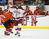 Tyler Moy (Harvard - 2) - The Harvard University Crimson defeated the visiting Princeton University Tigers 5-0 on Harvard's senior night on Saturday, February 28, 2015, at Bright-Landry Hockey Center in Boston, Massachusetts.