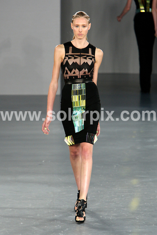 **ALL ROUND PICTURES FROM SOLARPIX.COM**                                             **WORLDWIDE SYNDICATION RIGHTS**                                                                                  David Koma runway, London Fashion Week, Summer Season 2012  on 20 September 2011.                                                                               This pic:    David Koma runway                                                                                          JOB REF:    14011    MLW       DATE:  21.09.2011                                                           **MUST CREDIT SOLARPIX.COM OR DOUBLE FEE WILL BE CHARGED**                                                                      **MUST AGREE FEE BEFORE ONLINE USAGE**                               **CALL US ON: +34 952 811 768 or LOW RATE FROM UK 0844 617 7637**